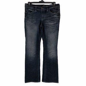 ANA Blue Modern Flare Mid Rise Denim Jeans Size 12